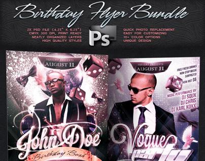 Birthday Flyer Bundle Vol.5