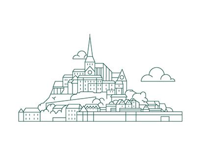 France - Belgium -vector illustrations