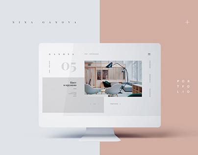 Interior Designer Web Portfolio.