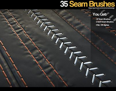 ZBrush - 35 Seam/Stitch Brushes