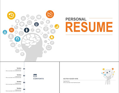 iSlide Presentation Template for Resume - 16