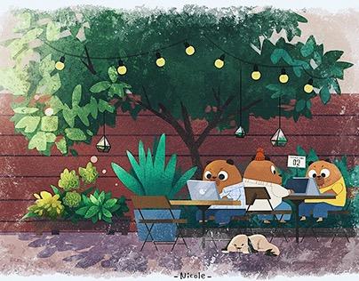 Summer day at Bear Cafe