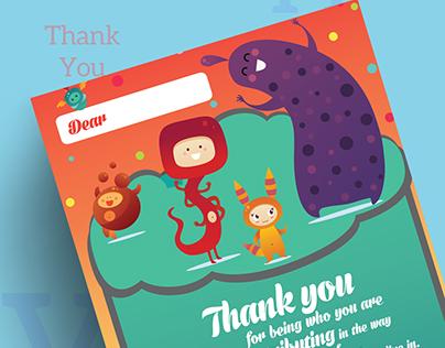 """Say """"Thank You"""" - Gratitude Card Design"""