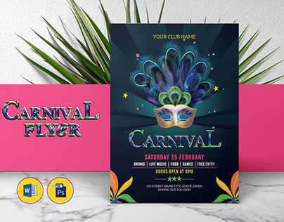 Printable Carnival Party Flyer Template