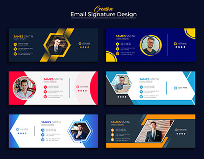 Modern And Creative Email Signature Or Footer Template