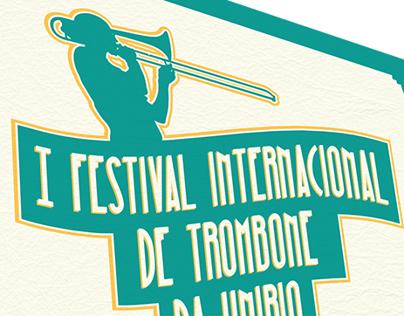 Cartaz - I Festival Internacional de Trombone da UNIRIO