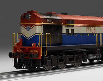 WDM2 Locomotive - 3d Vehicle study