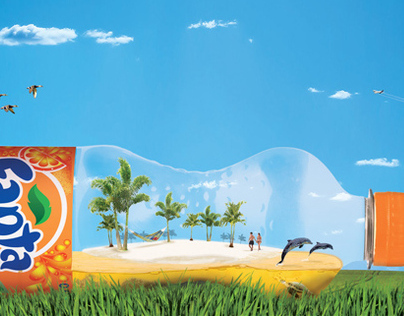 "Fanta ""Dreaming Away"" Tropical Island in a bottle"