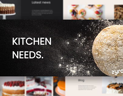 Kitchen Blog Website Design