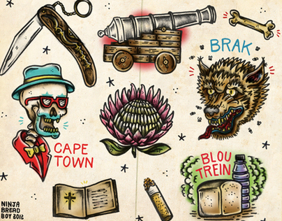 """""""Chappies"""" 2 - Tattoo Flash with a local twist"""