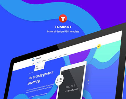 Tammat - Material Design HTML and PSD Template