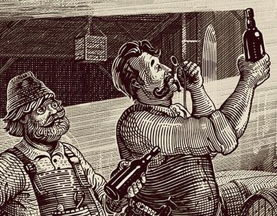 Illustration for Vilkmerge beer