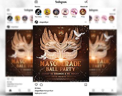 Masquerade Ball Party Free PSD Flyer Template