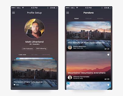 Pandora - Social Platform for Panoramic Images