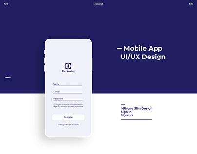 Electrolux App - UI/UX Design