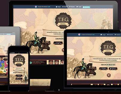 T.E.G. Landing page