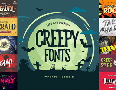 Best Free and Premium Creepy and Spooky Fonts