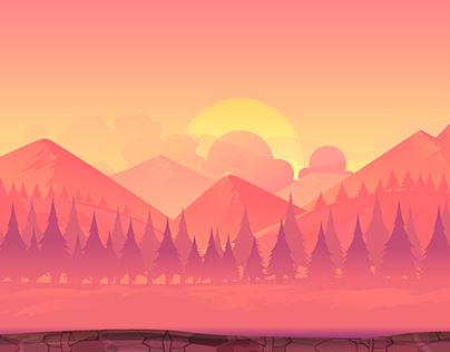 Mountains Landscape illustration