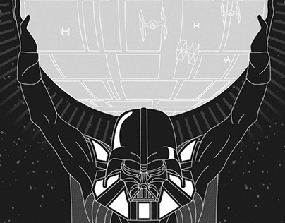"""""""Atlas"""" Re-imagined as Darth Vader"""
