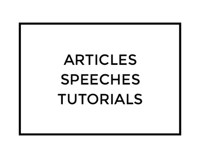 Articles, speeches and tutorials by Mondlicht Studios