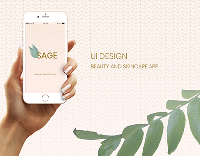 SAGE: UI Design for Beauty / Skincare App