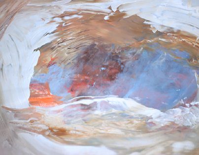 """Frozen 1998"" acrylic on paper 100x70cm"