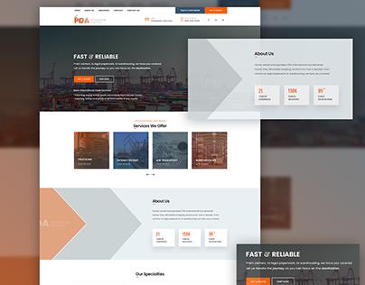 PDA International Logistics | Branding & Web Design