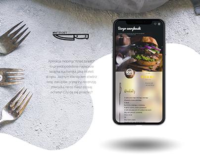 Concept mobile food app UI