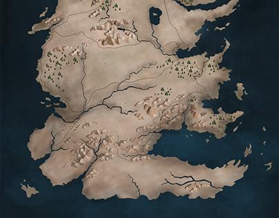 Game Of Thrones Map FanArt