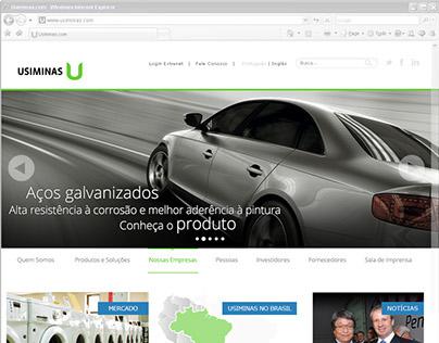 Novo Portal Web Usiminas