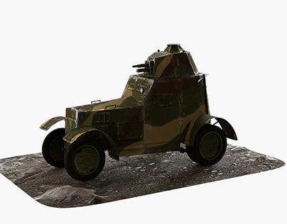 Polish armored vehicle wz34 from World War II 2700 tris
