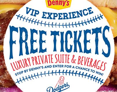 Denny's – Baseball Sponsorship Posters