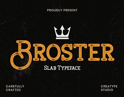 Broster Slabe Typeface