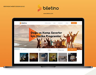 Biletino.com UX/UI Responsive Website Design