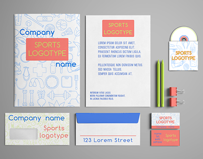 Sport Shop corporate identity template design set