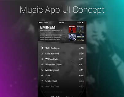 Mobile Music App Concept