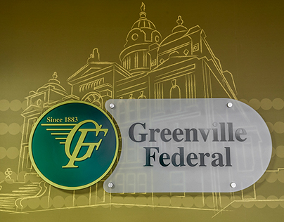 Environmental Graphic Design: Greenville Federal Bank