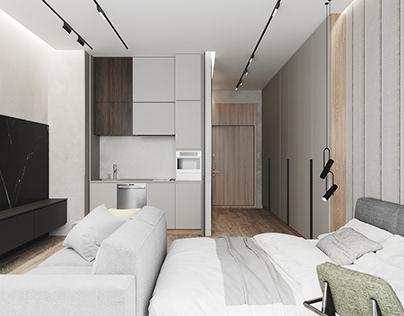 Дизайн квартиры-студии в Москва Сити