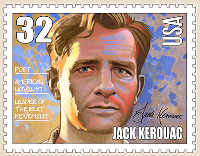 Jack Kerouac US Postage Stamp