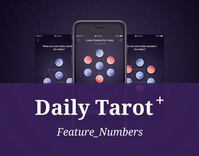 Daily Tarot ⁺ - Feature Numbers UI & UX Design