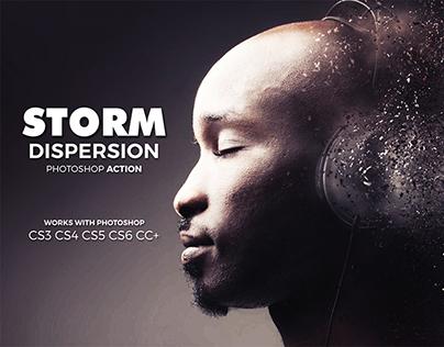 Storm Dispersion Photoshop Action