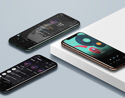 Music player - app ui and case study