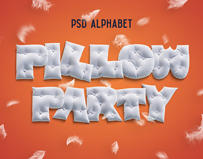 Pillow Party alphabet