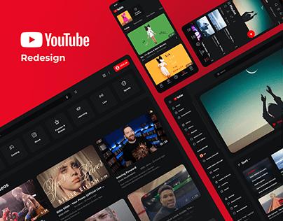 Youtube Redesign   UX/UI