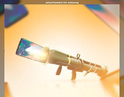 Advertisement For Samsung Mobile x Fortnite