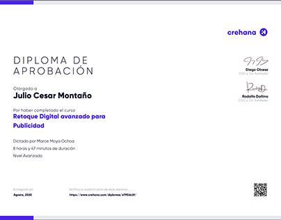 Diploma RETOQUE DIGITAL AVANZADO