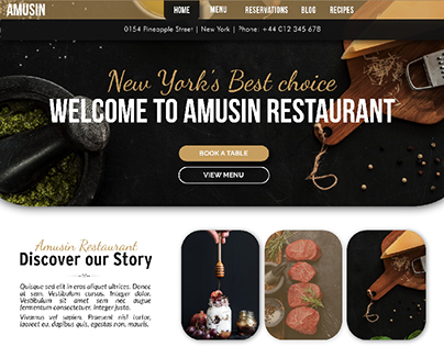 Amusin Restaurant Website