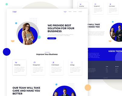 Business Landing Page Design Concept
