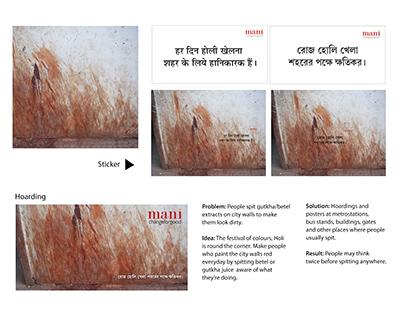 Holi activation for Mani