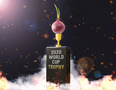 Onion trophy and poster design concept